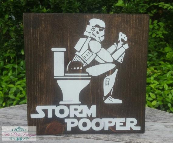 storm pooper star wars sign bathroom decor by jaxxthepinkpenguin. Black Bedroom Furniture Sets. Home Design Ideas