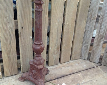 Vintage Look Cast Iron Candle Holder