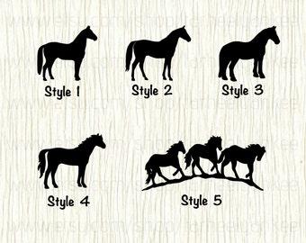 Horse Car Decal, Horse Decal, Quarter Horse Car Decal, Thoroughbred Car Decal, Clydesdale Car Decal,Equine Car Decal,Equestrian Car Decal
