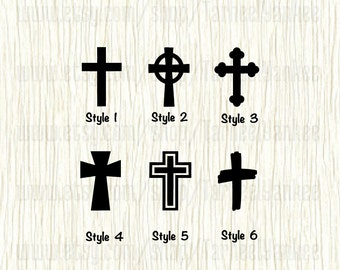 Cross Car Decal,Christian Cross Decal,Celtic Cross Decal,Catholic Cross Decal,Church Cross Decal,Brush Stroke Cross Decal,Cross of Christ