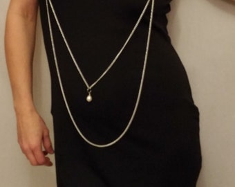 Long Drape body chain necklace