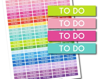 To Do header stickers, To Do planner stickers, To Do printable stickers, To Do stickers, Header stickers, Planner header stickers, STI-190