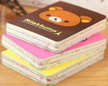 Rilakkuma Bear Journal Mini Book - Thick Palm-Sized Notebook, Dairy, Colorful Pages, Cute Kawaii Stationary