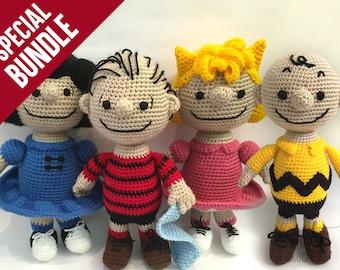 SPECIAL BUNDLE: Amigurumi Crochet Pattern - Peanuts Gang