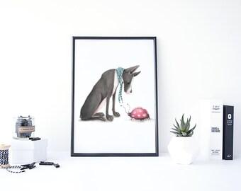 Nursery Prints, Nursery Illustration, Nursery Animal Print, Printable Kids Gift, Printable Nursery Art, Animal Nursery Art, Nursery Room Art