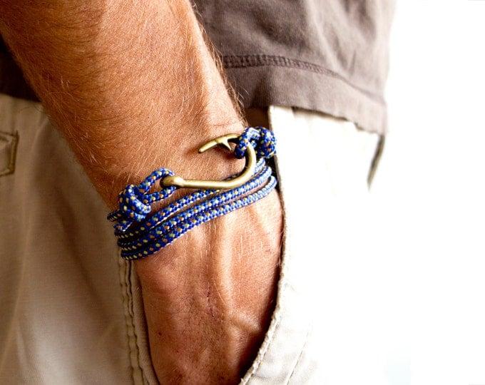 Zodiac Jewelry, Summer Gift, Best Friend Zodiac Bracelet. Fishing Hook Mens Bracelet. Tom Hope Bracelet