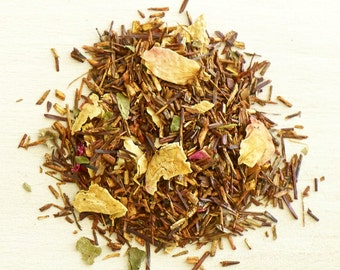FLOWERED BLACKBERRY ROOIBOS - Organic Loose Leaf Rooibos Tea, Indulge in a sweet cherry & caramel buttery pastries dream, zero calories