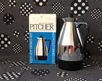 Chrome is Where the Heart Is~Interpur~Insulated Chrome Pitcher~Screw Type~Leak Proof Locking Cap