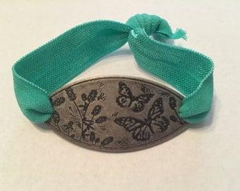 Butterfly Burnished Silver Bracelet