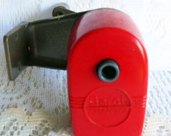 Red Berol Sharpener, Vintage Pencil Sharpener, Wall Mount Sharpener, Made in USA, School Supply, Office Sharpener