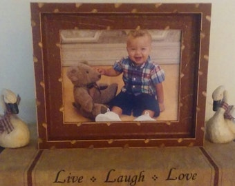 Rustic Picture Frame, Distressed Picture Frame, Wood Picture Frame