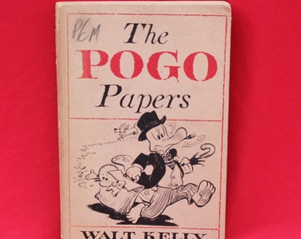 Vintage The POGO Papers Soft Cover Book Walt Kelly 1953 Comic