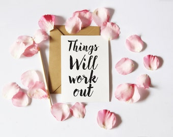 Things Will Work Out, Printable Card, Traveler Printable, Card For Traveler, Good Start Her, Traveler Printable Card first day card Download