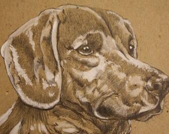 Personalized portrait Dog CANE