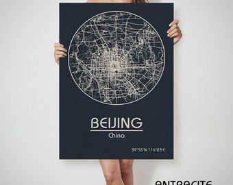 BEIJING China map Beijing art, Beijing print, Beijing, Beijing map, Beijing China, Beijing wall art, Beijing city map, Beijing poster