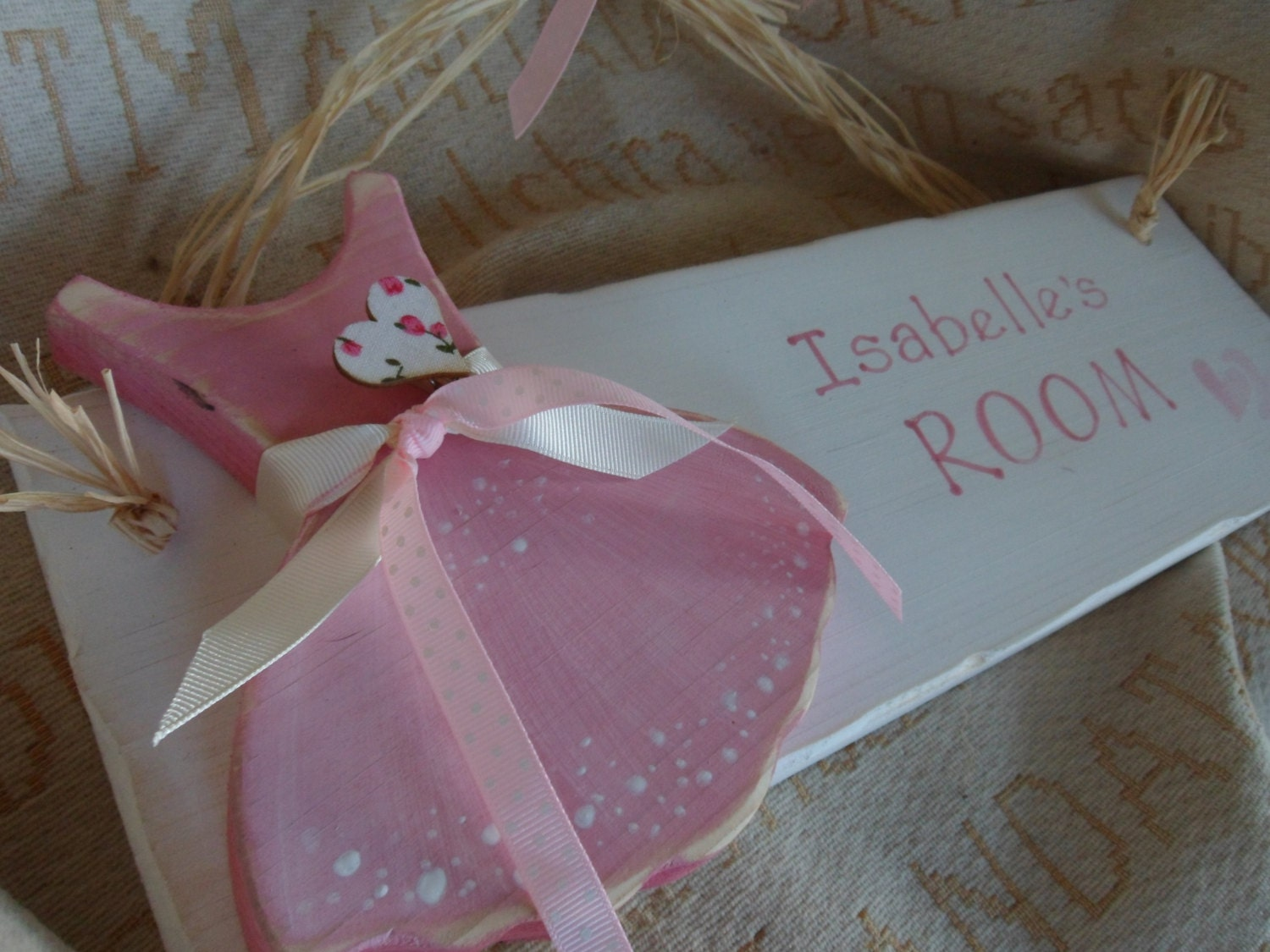 Ballerina Personalised Bedroom Door Sign For Your Little