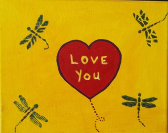 I love you painting