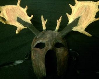 Masculine Moose Antler Mask