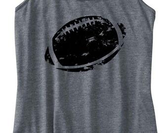 Women's Football Printed Tank, Football Design, Racerback, Women's Football Shirt, Printed Tanktop, Football Tank, Football Ball