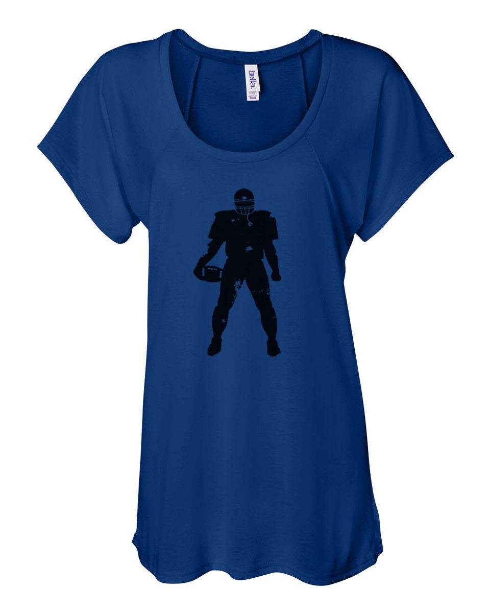 Women 39 S Raglan Football Player Printed Shirt Football