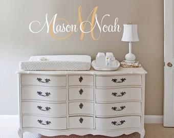 Girls Nursery Decals, Nursery Name Decal, Custom Name Decal, Girl Name Decals, Nursery Wall Decals, Boys Nursery Name Decals
