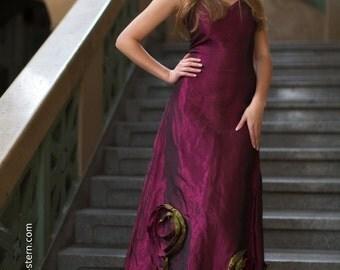 metallic shimmering evening dress