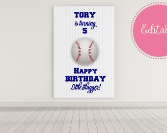 Baseball Backdrop, Baseball Decorations, Baseball Birthday Party Decorations, Little Slugger, Candy Buffet, Dessert Table Backdrop