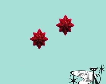The Starburst earrings in red