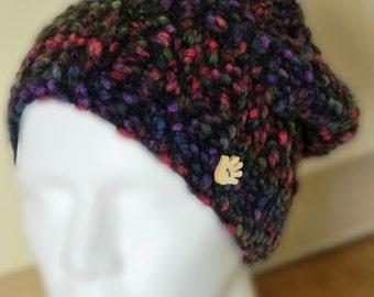 Knit Hat, Women's Knit Hats, Winter Hat, Winter Accessories, Knitted Warm Hat, Slouch Knit Hat, Oversized Hat, Slouch Hat, Multicoloured Hat