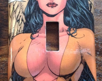 Dawnstar Light Switch Cover Switchplate Decoupage Comic Book Legion of Superheroes