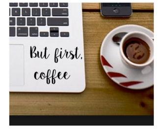 Coffee Mug Decal Etsy - Custom vinyl decals for laptop
