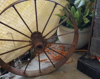 Early American Iron B1 Wagon Wheel circa 1800s
