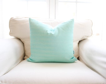 S A L E | Caribbean Breeze Pillow Cover | Blue | Green | Turquoise | Solid | 18x18