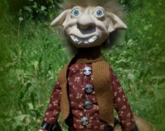 MAEL OOAK DOLL, elf, pixie, trolls, duendes, handmade, luck, Elf, Goblin, polymer clay