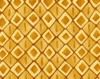 1 yd - Moda - Spirit by Lila Tueller - Gold Diamonds