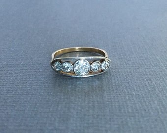 Antique Edwardian Old Mine Cut Diamond Ring