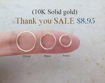 10K Gold Cartilage ring/Earrings/Piercing/Cartilage earring/Hoop earring/Helix piercing/Nose ring/Conch piercing/Rook piercing/Snug/SALE