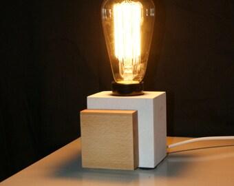 Edison bedside lamp carved