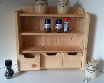 Spice cabinet with 3 drawers and 2 legplankjes