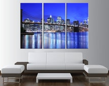 New York Skyline Canvas Print wall art, extra large wall art, canvas gallery art, new york wall art, new york canvas art print canvas t97