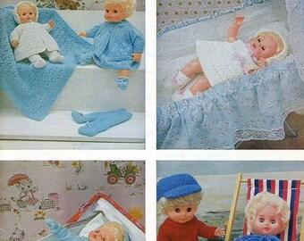 Vintage Pdf Hayfield 7021 Doll's Knitting Pattern/Booklet