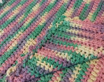 Cat Blanket: Muted Rainbow