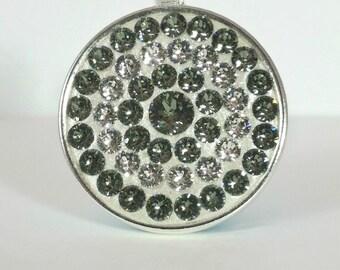 Swarovski Black Diamond Pendant - Swarovski Crystal Silver Pendant - Handmade   Gift For Her   Women's Jewelry