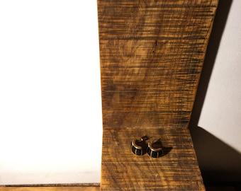 Black & Gold Beetle Studs
