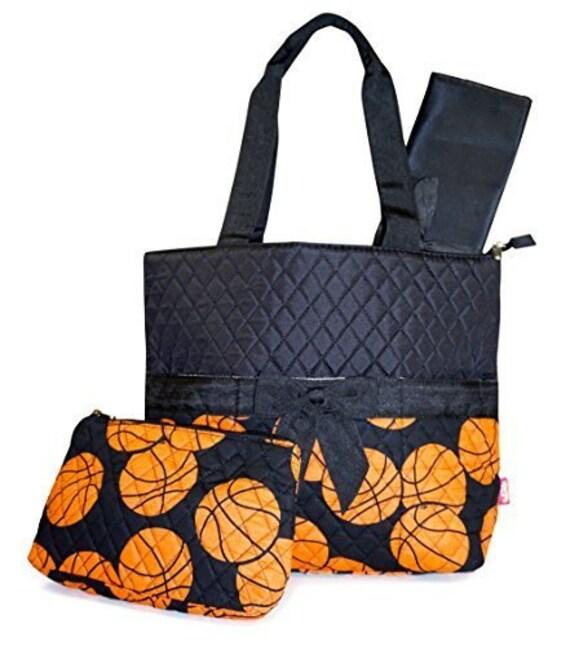 large personalized diaper bag basketball by crescentmoonmonogram. Black Bedroom Furniture Sets. Home Design Ideas