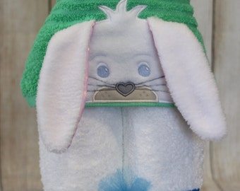 Bunny Hooded Towel - Toddler Towel - Kids Towel Wrap - Animal Hooded Towel - Rabbit Towel - Towel for Kids - Easter Towel - READY TO SHIP