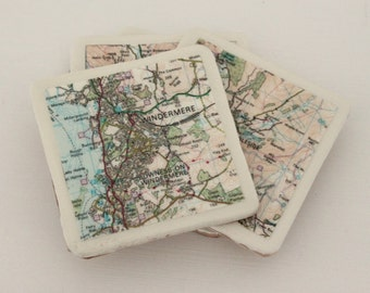 Map Coasters Choose Your Area