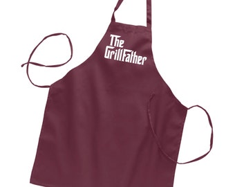 The GrillFather Apron Fathers Day Gift Grilling Apron Gifts for Dad Apron Mens Apron Husband Gift Boyfriend Gift Personalized Mens Grandpa
