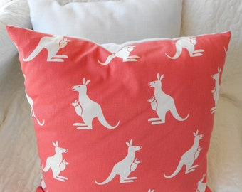 Handmade Coral nursery playroom bedroom kangaroo pillow buy  2 shipping get discount