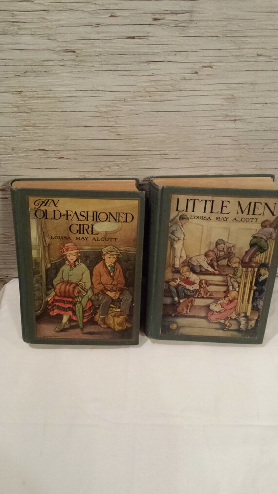 Two Vintage Louisa May Alcott Novels - Little Men and An Old Fashioned Girl